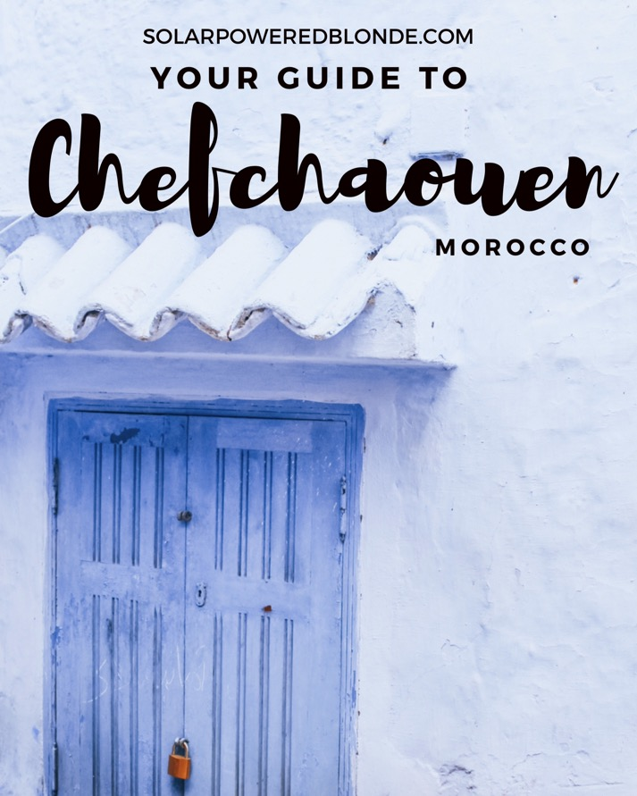 Blue city in Morocco - a doorway