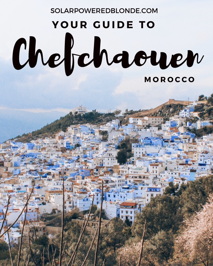 Guide to Chefchaouen Morocco - view from above