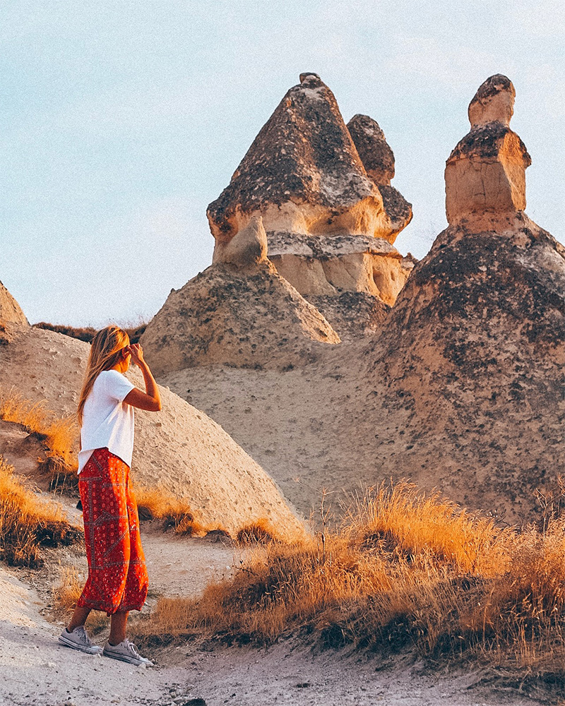Wandering through the valleys for free in Cappadocia