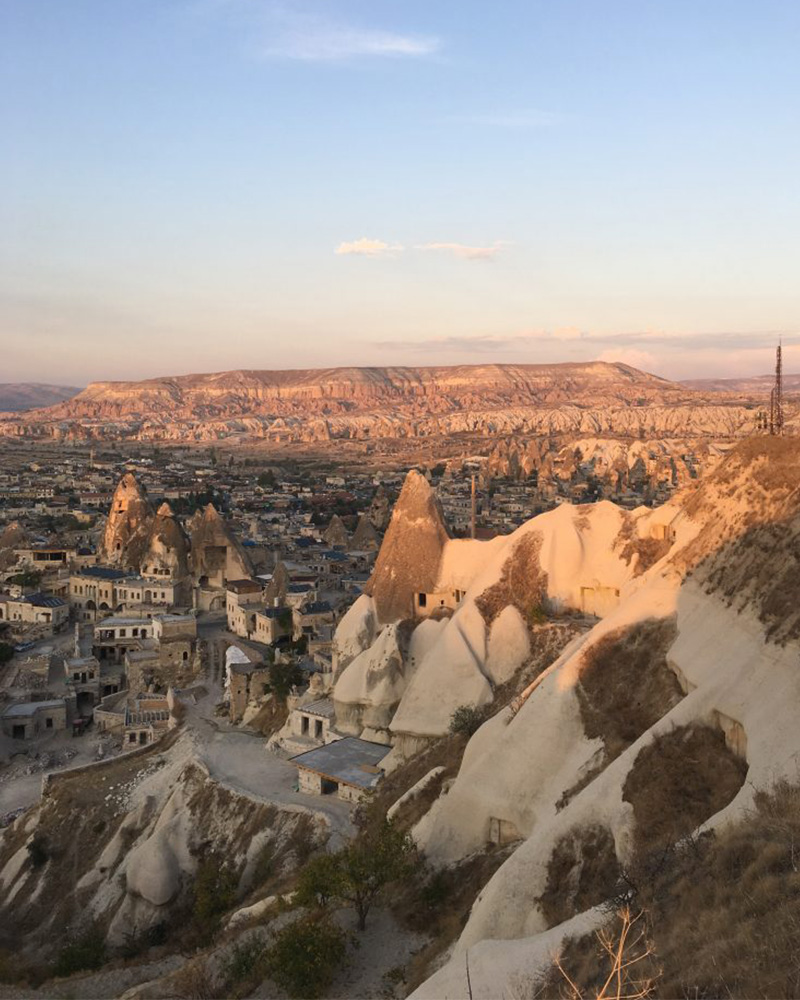 View over the fair chimneys in Cappadocia