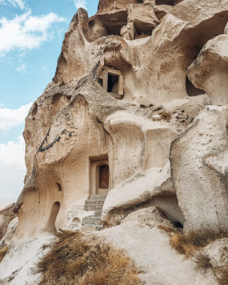 Views of where people used to live in the fairy chimneys