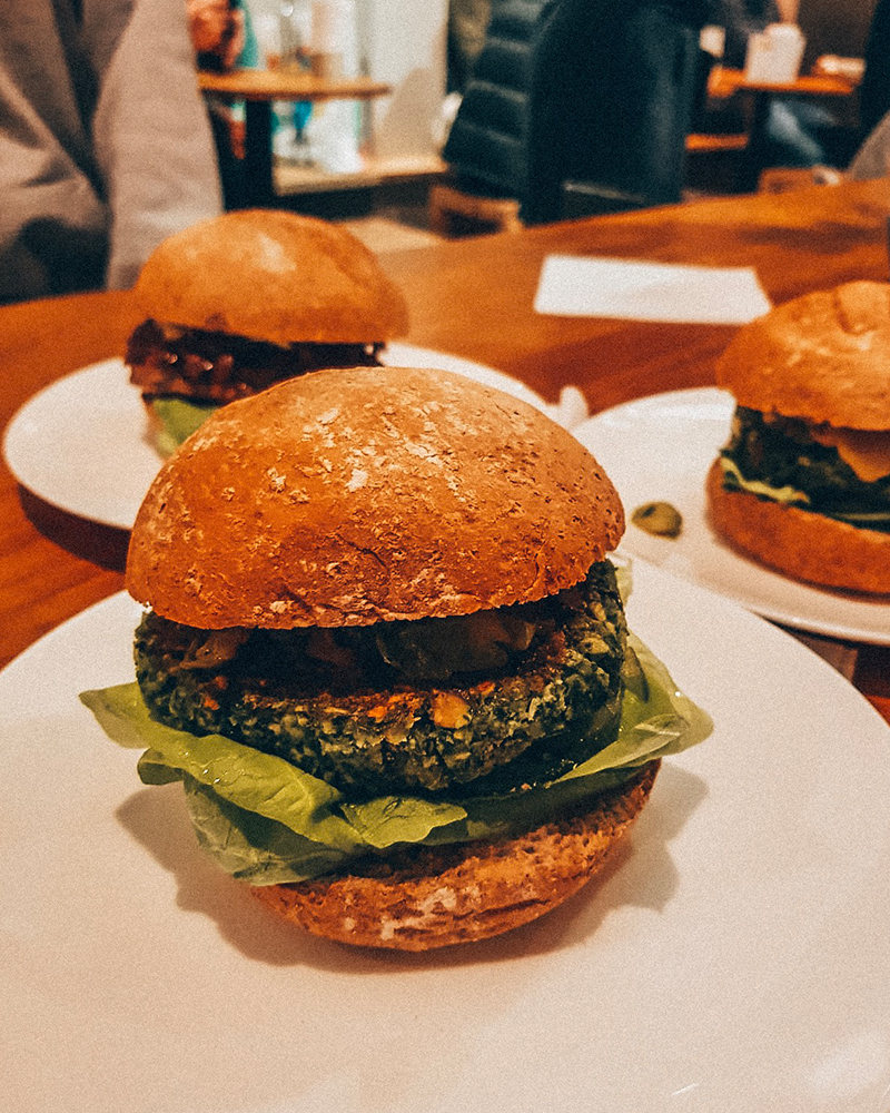 Vegan burger in Amsterdam