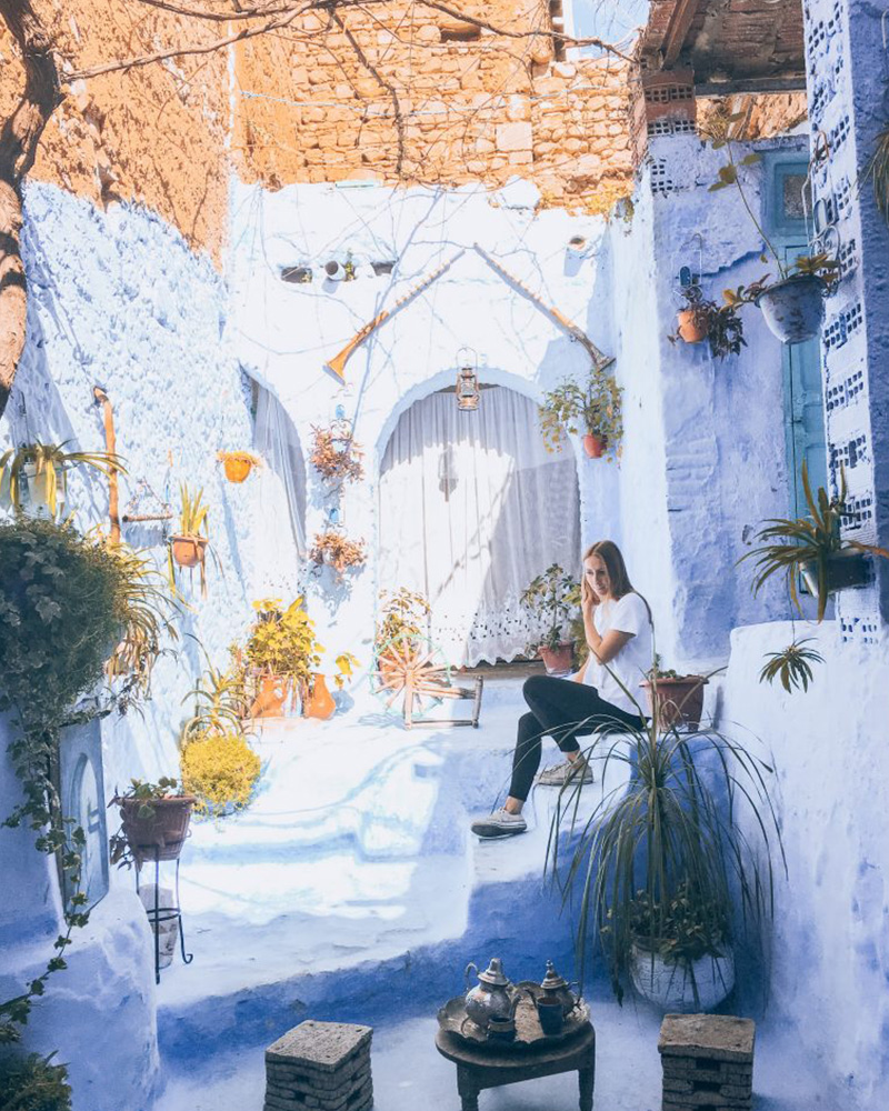 The most instagrammable spot in Chefchaouen