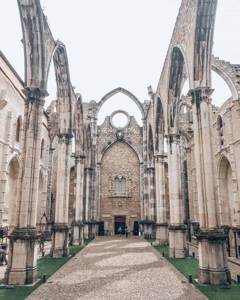 Amazing ruins in the centre of Lisbon