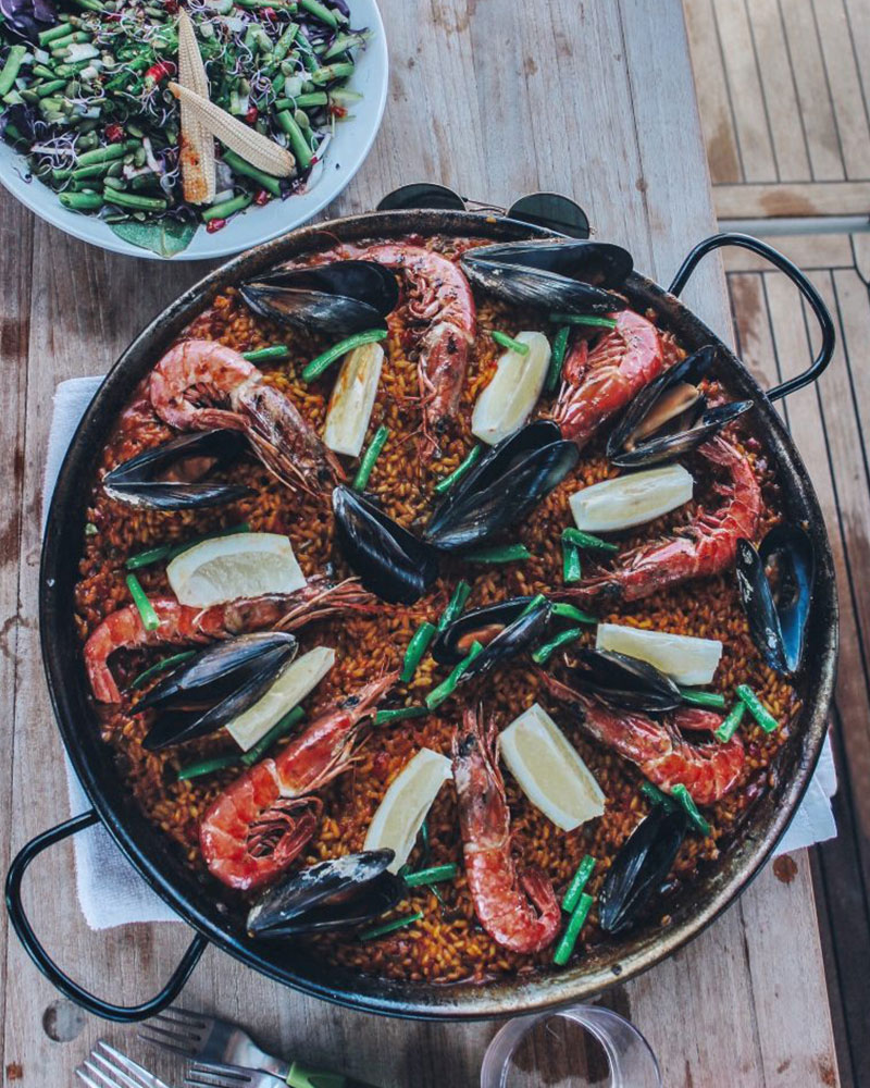Paella on the boat