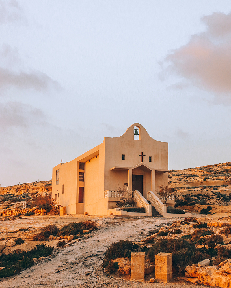 A small church on the island of Gozo