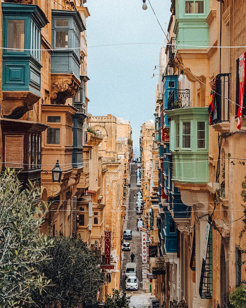 The streets in Valetta, the capital city of Malta - How to spend 5 days in Malta