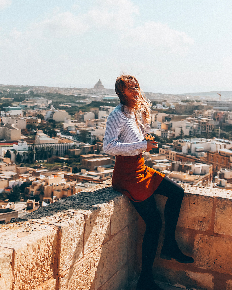 Me sat on top of the Citadel in Gozo - How to spend 5 days in malta