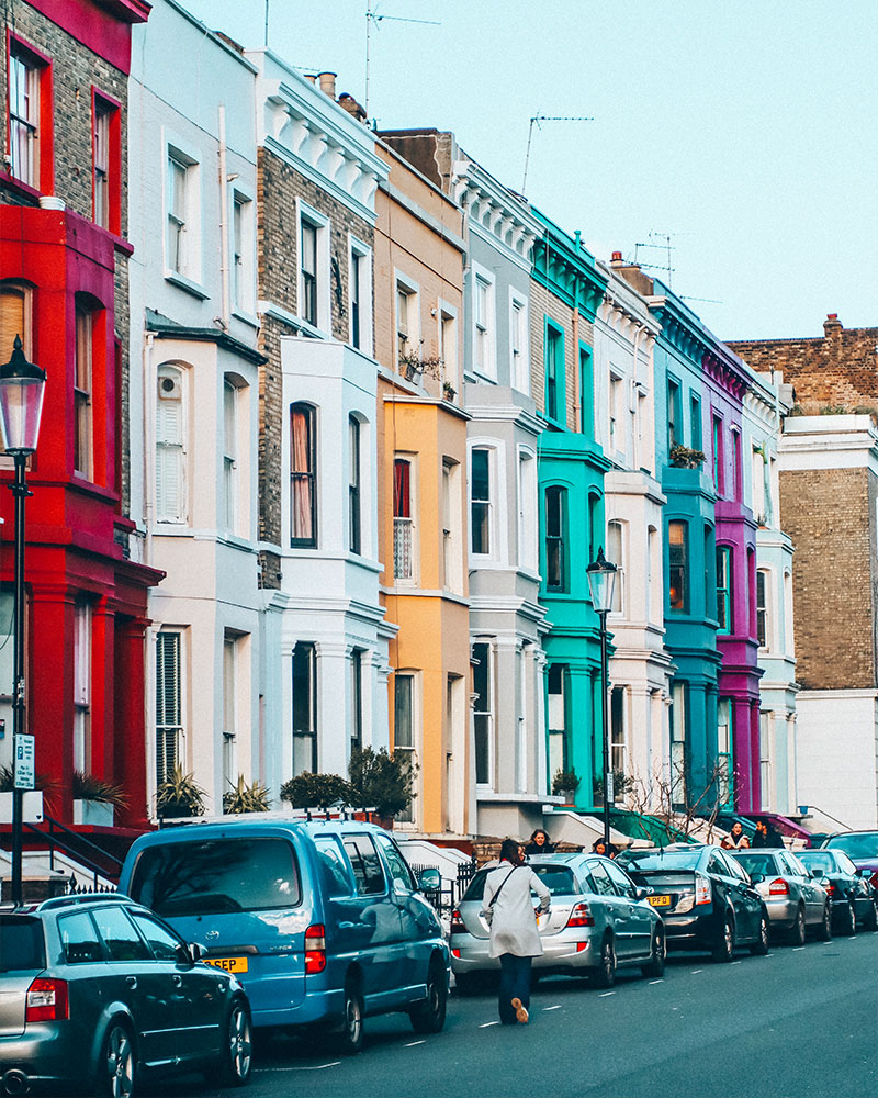 A colourful street in Notting Hill