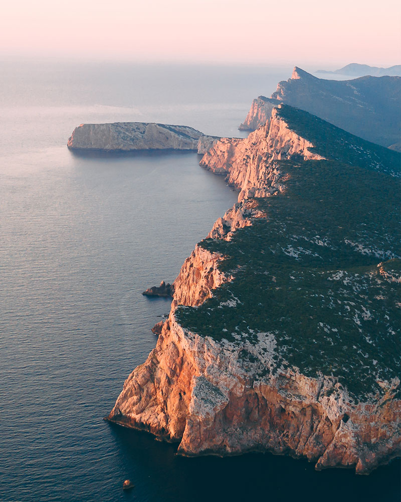 Cliffs at Capo Caccia in Sardinia
