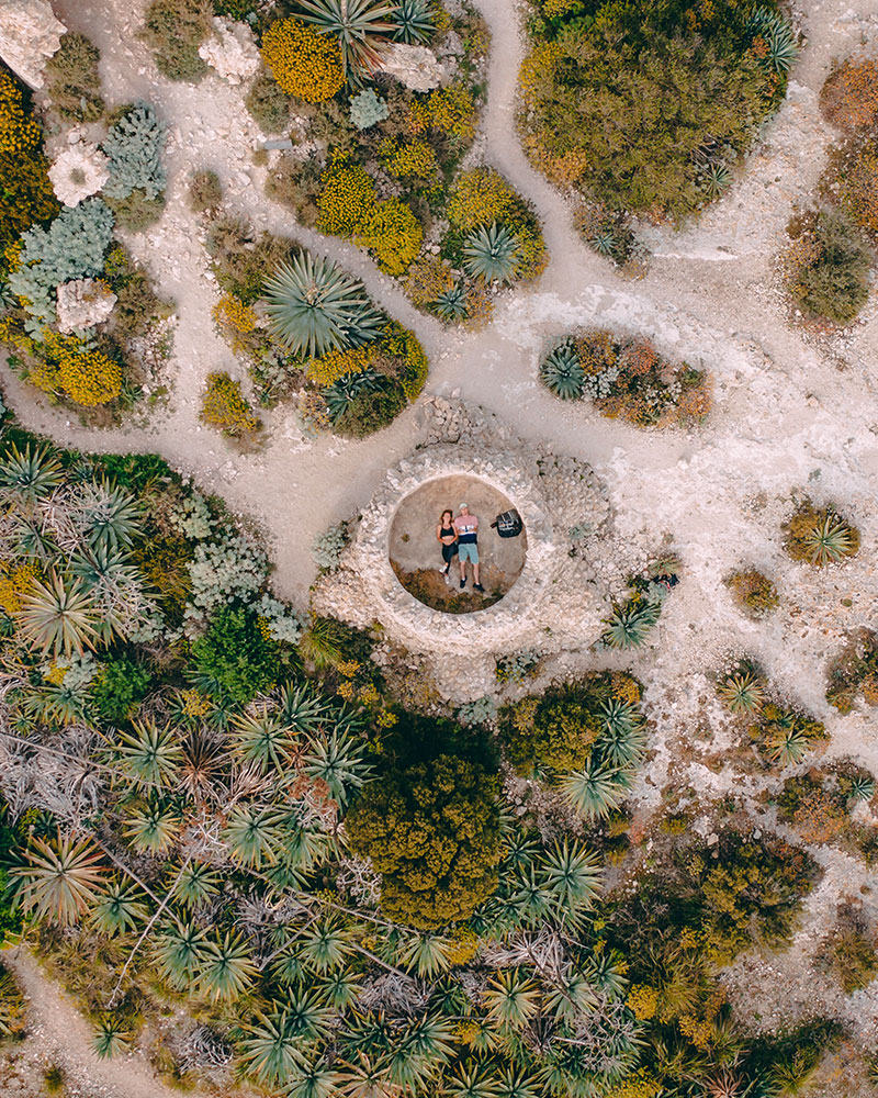 Top down drone shot of me and Boyan