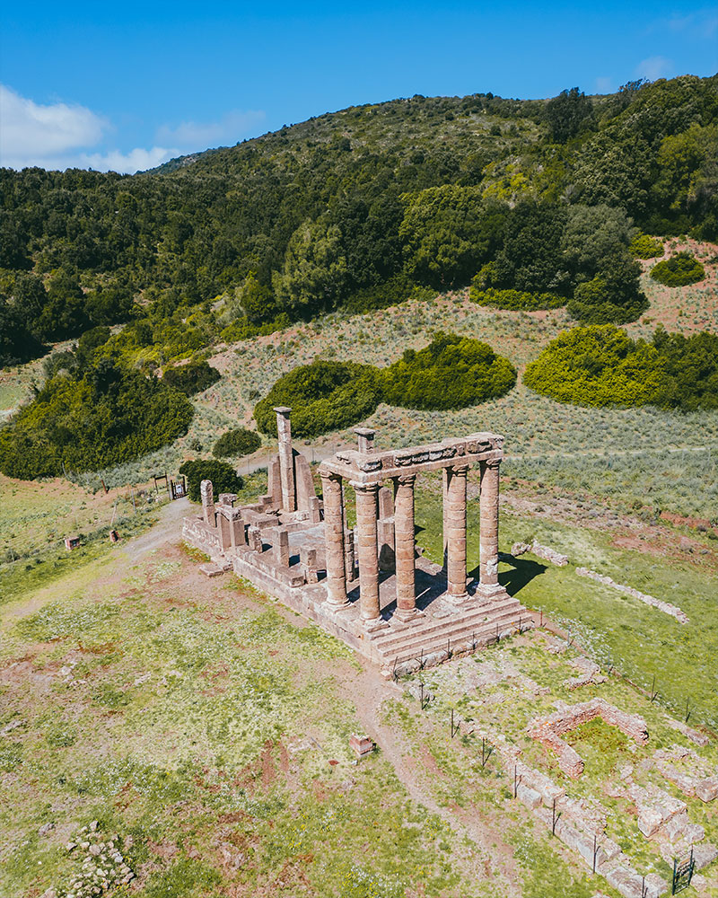 Tempio di Antas with the drone