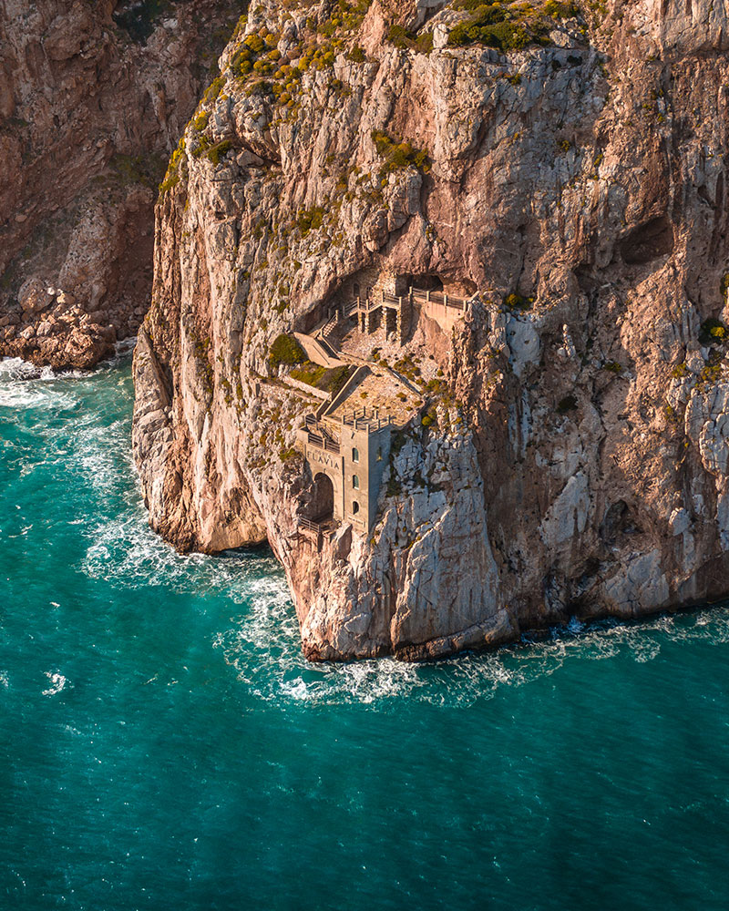 Porto Flavia, Sardinia, an old mining area