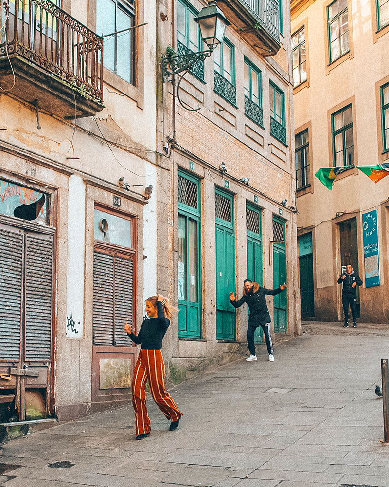 How to spend 3 days in Porto - me walking down the street