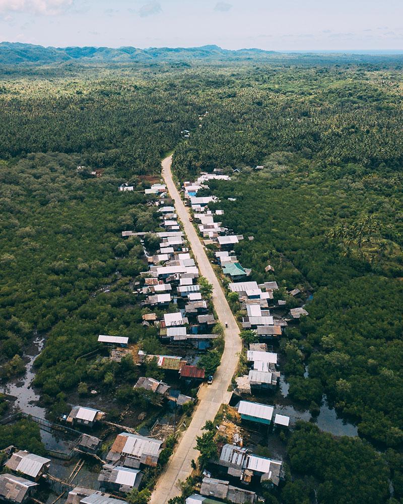 Drone shot in Siargao