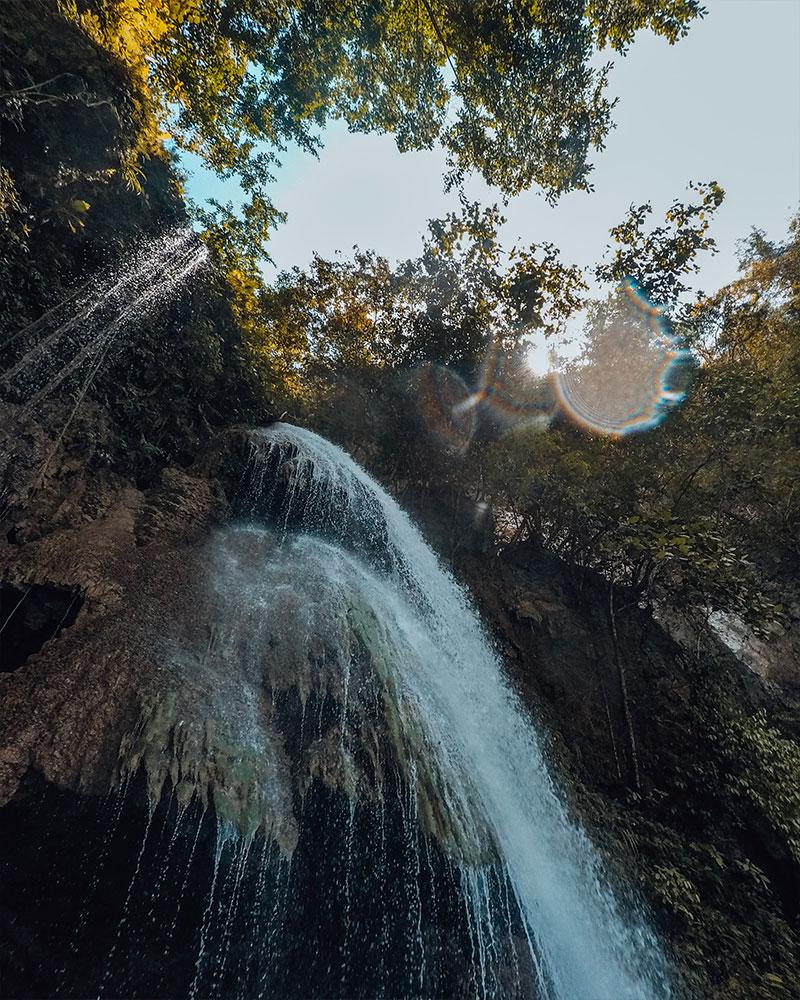 Kawasan Falls in Cebu Island Philippines