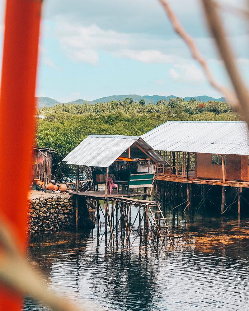 Little hut on water in Siargao
