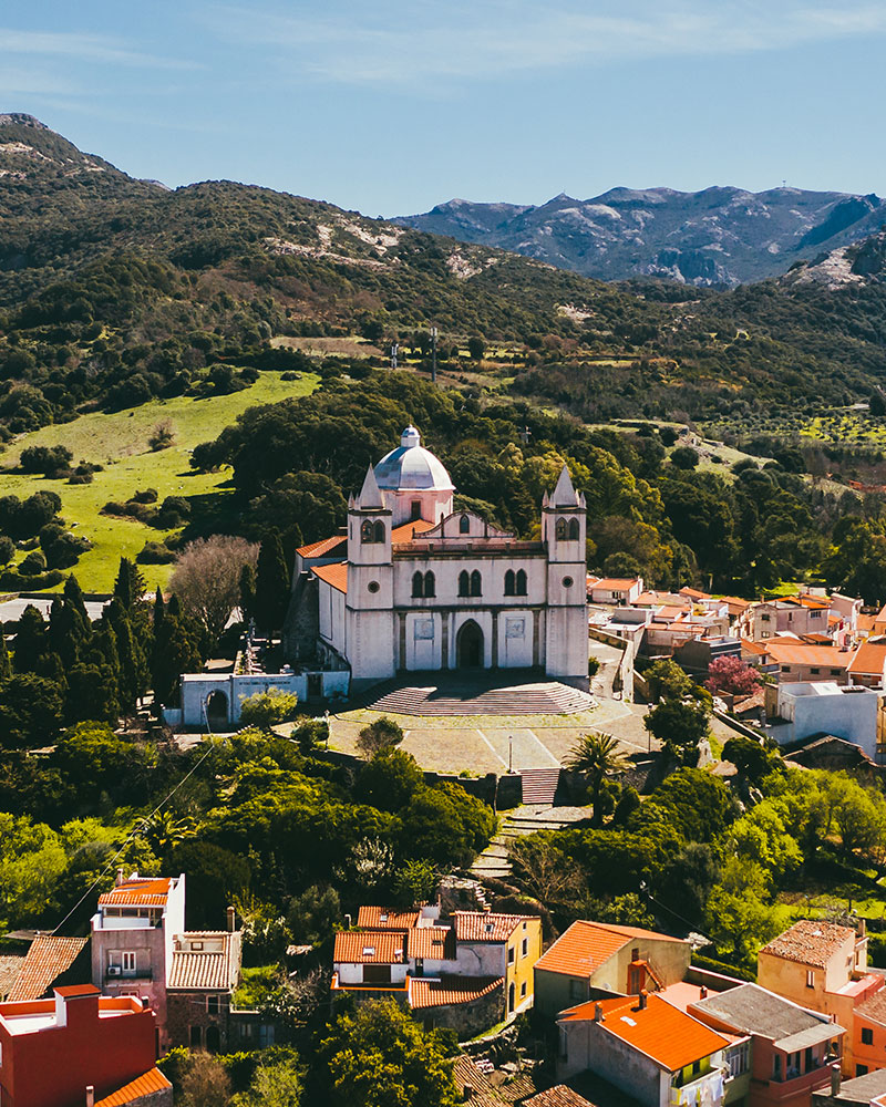 View of the Basilica in Cuglieri, Sardinia