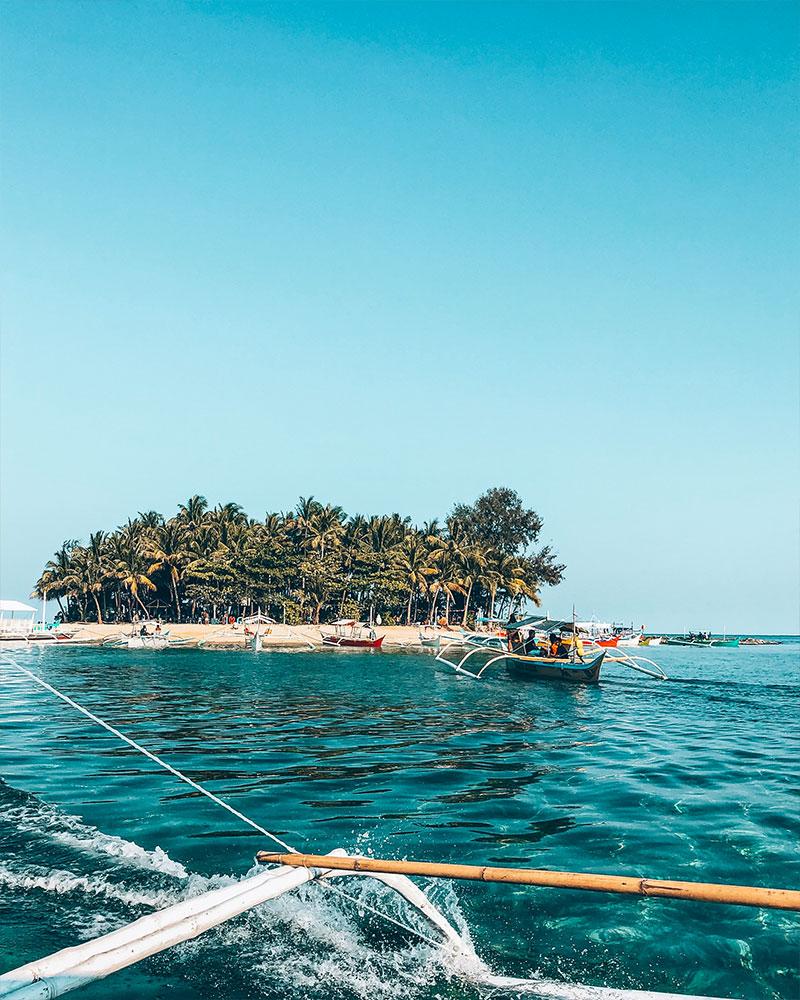 View of our island hopping trip - Daku Island