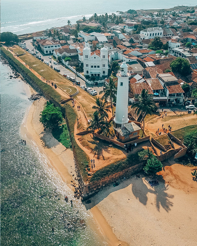 Galle Fort lighthouse with the drone