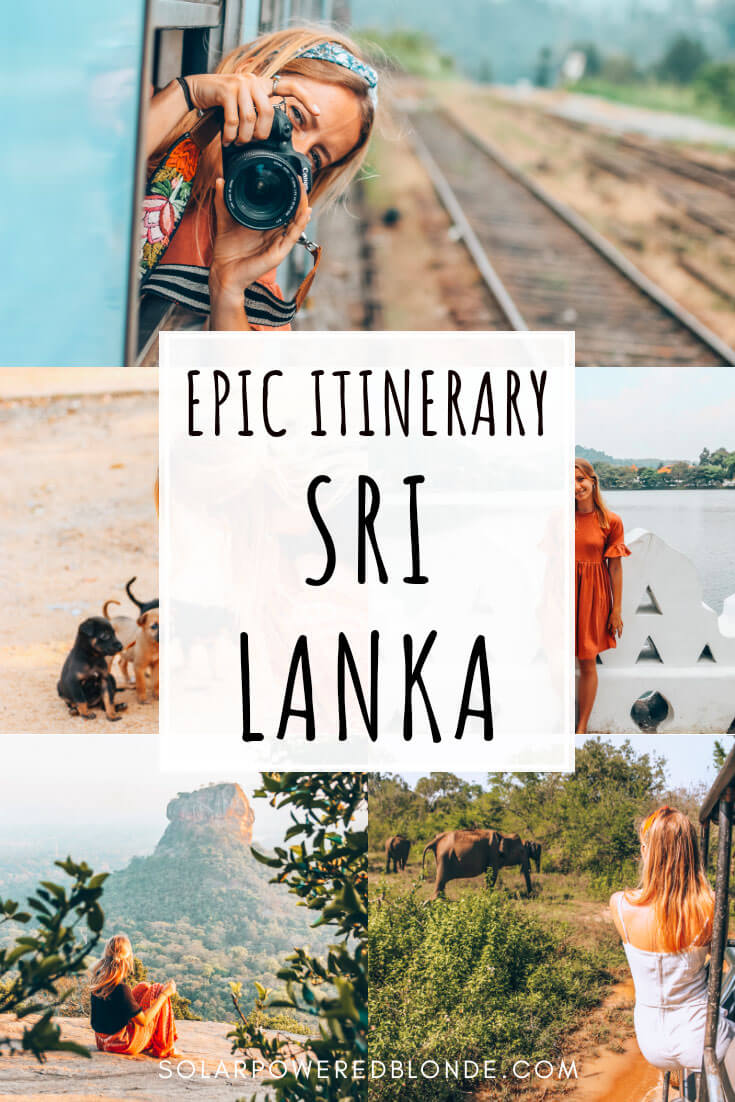 Collage of photos from Sri Lanka with text overlay