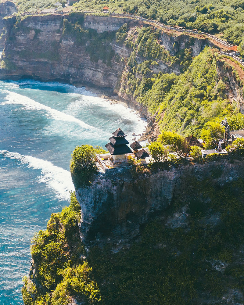 View over Uluwatu temple, Uluwatu, Bali, Indonesia