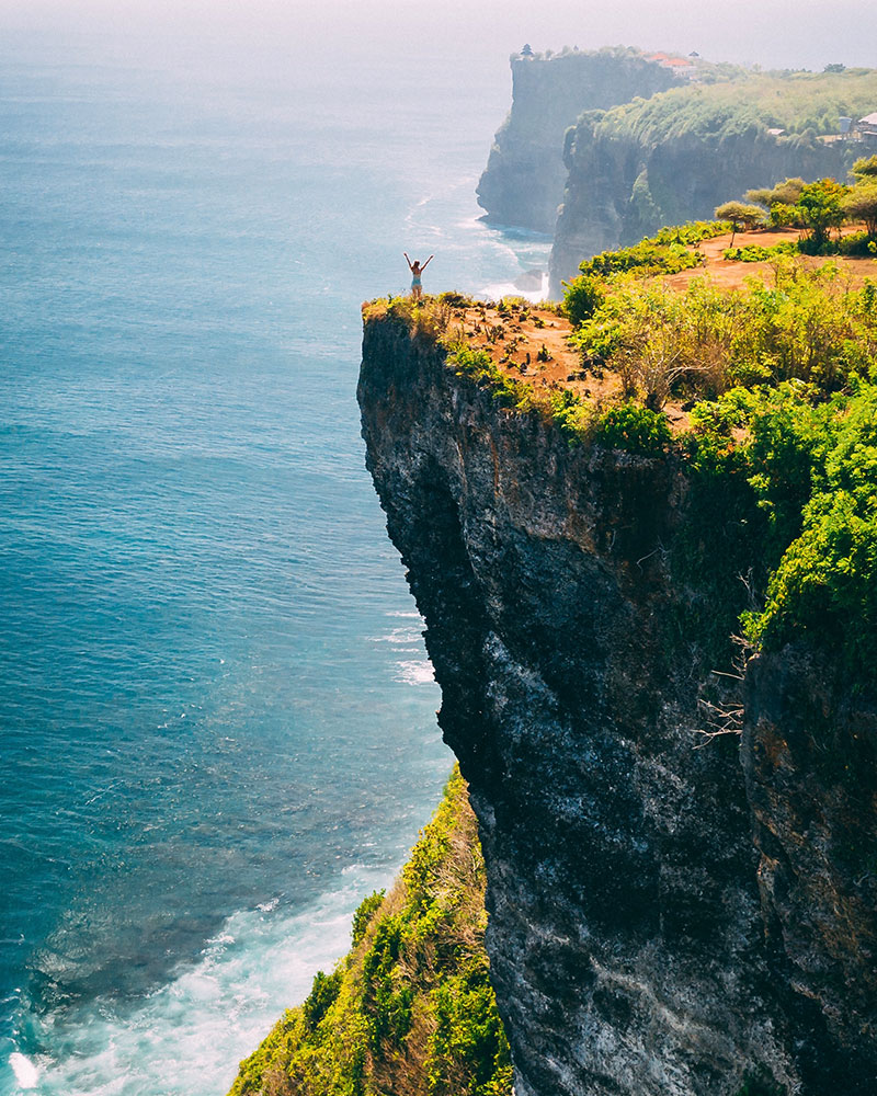 Uluwatu Rock, Korang Boma Cliff, view from the drone, Uluwatu, Bali, Indonesia