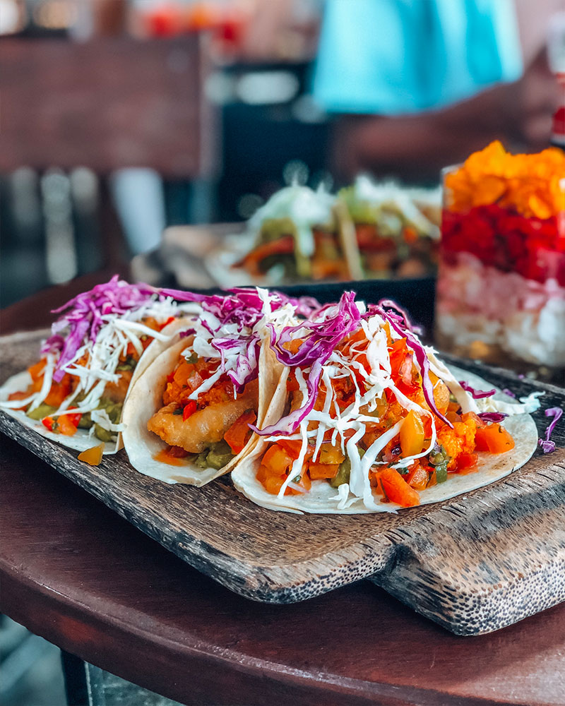 Fish Tacos at the Mango tree Cafe, Uluwatu, Bali, Indonesia