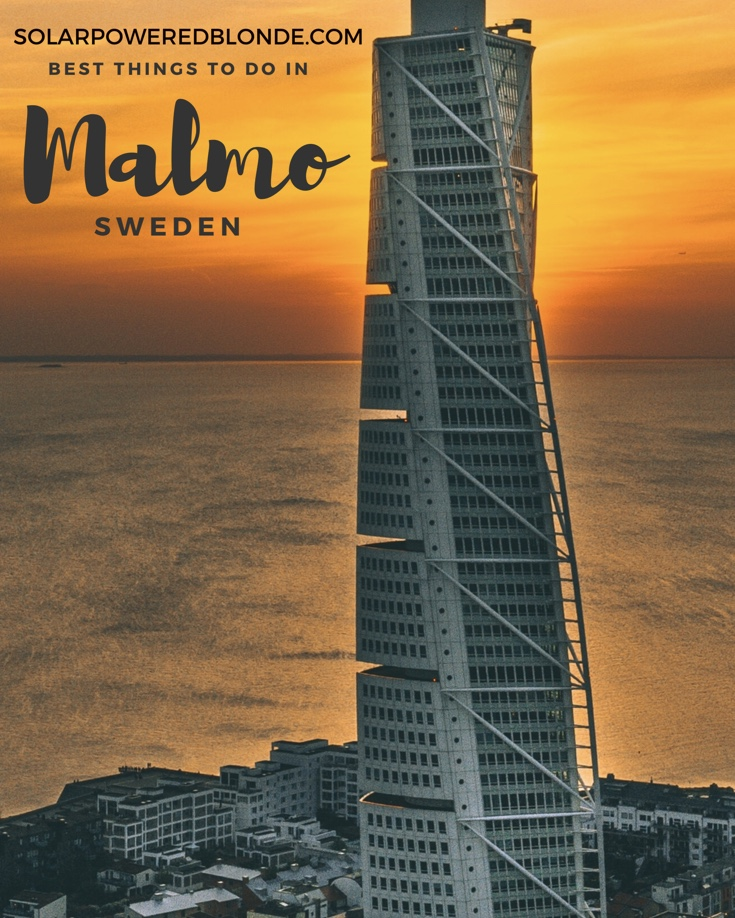 Turning Torso in Malmo at sunset