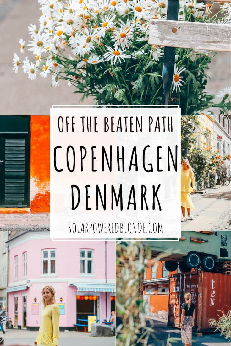 Collage of images from Copenhagen hidden gems with text overlay