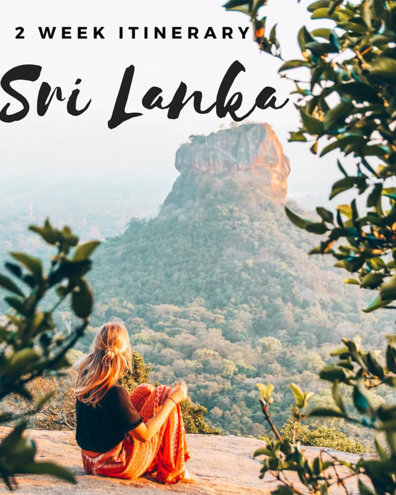 Me sat on top of Pidurangala Rock overlooking Sigiriya rock in sri Lanka
