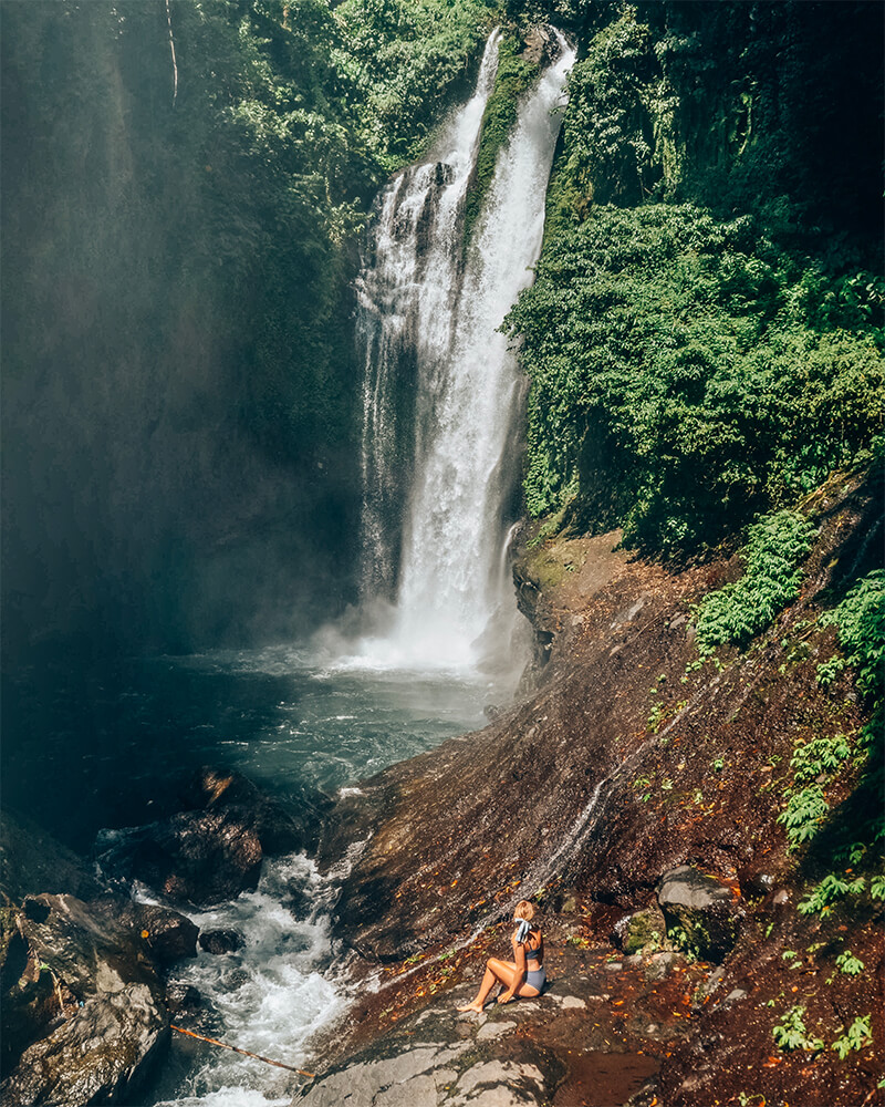 Aling Aling waterfall in Munduk, Bali