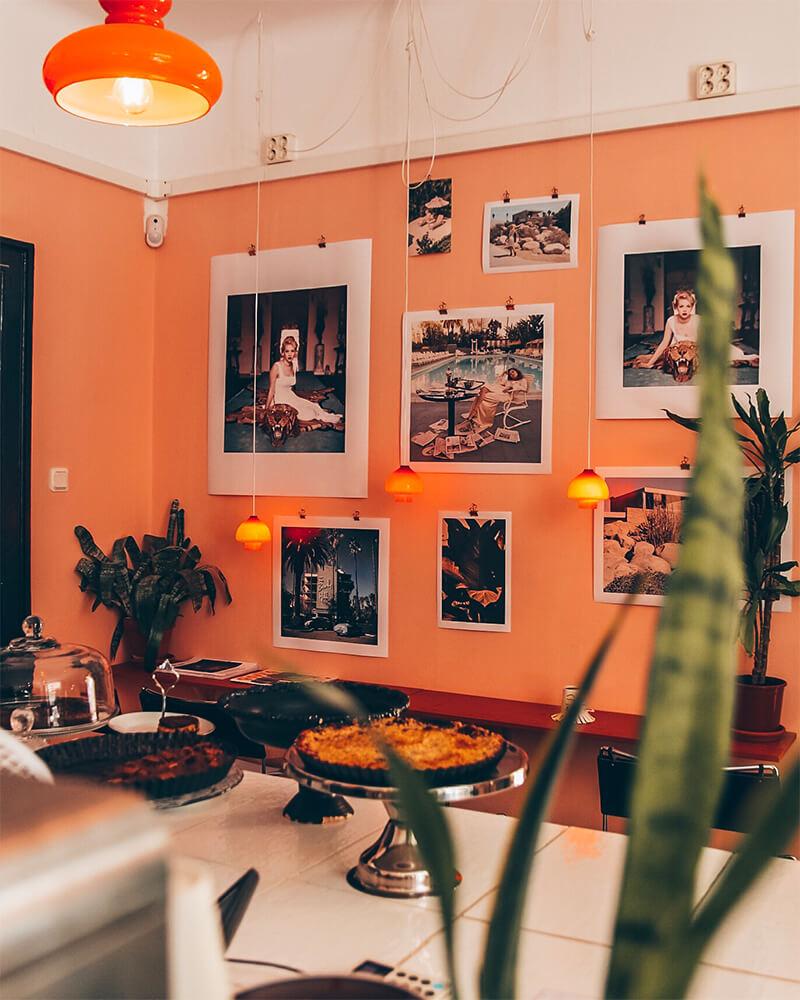 Interior of a cafe in Malmo