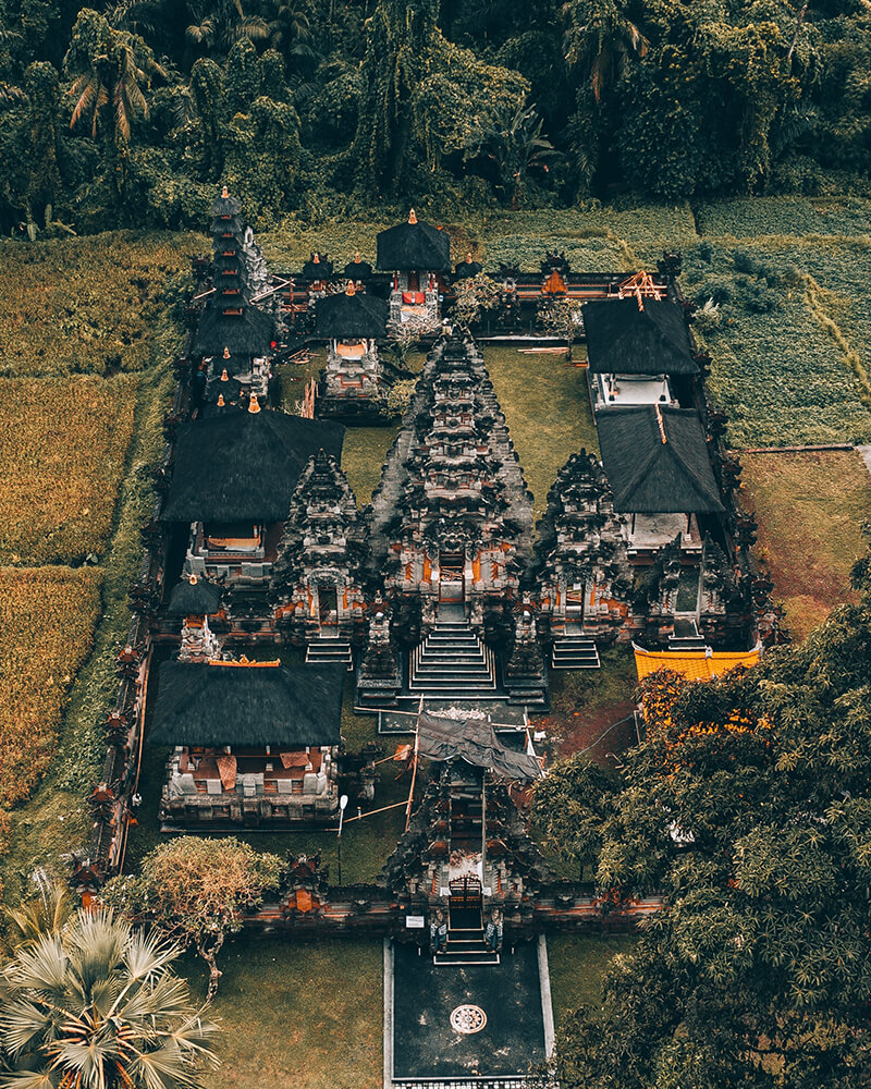 View of a temple, Ubud, Bali, Indonesia