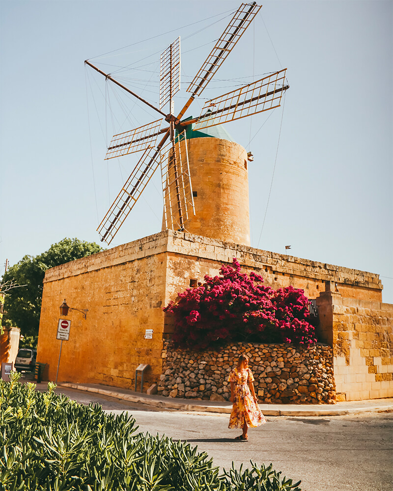 Ta' Kola Windmill on Gozo
