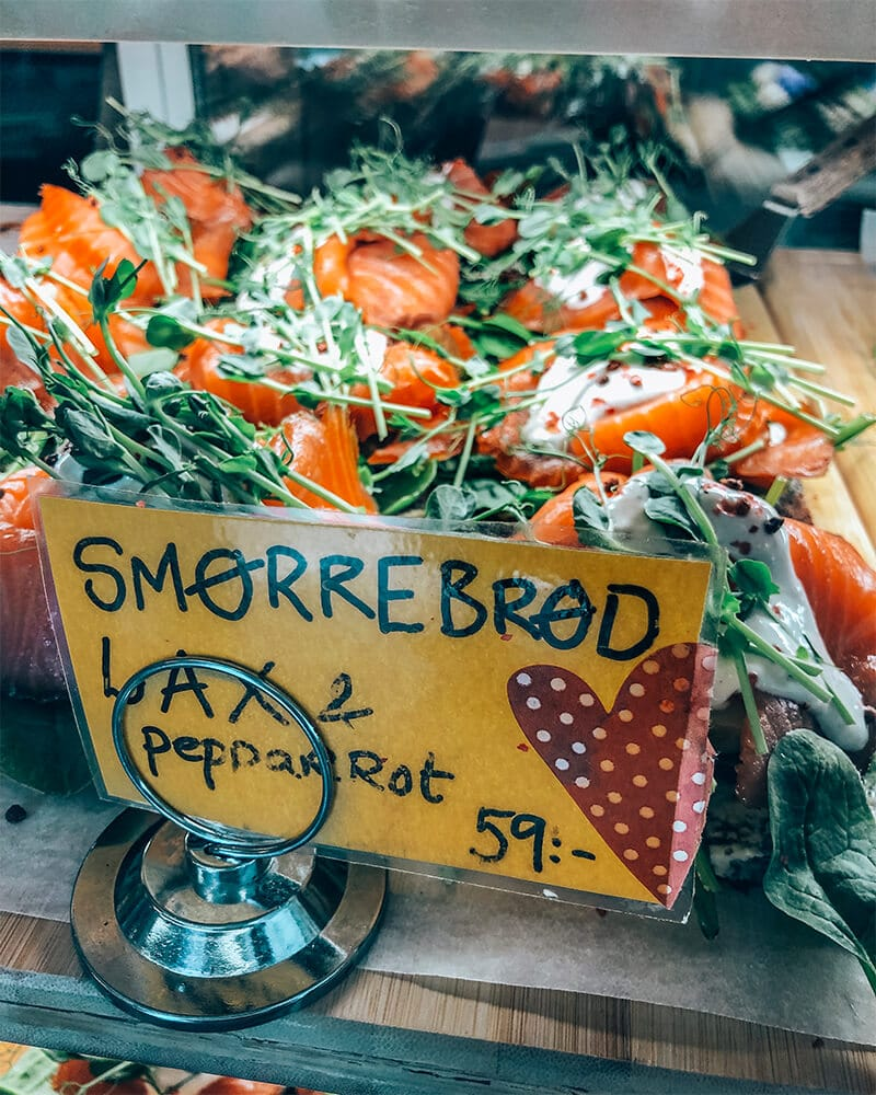 Best restaurants in Malmo - traditional Smorrebrod at a cafe