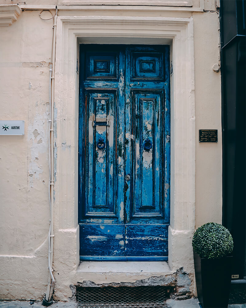 Blue door in Malta - Day trip to Gozo