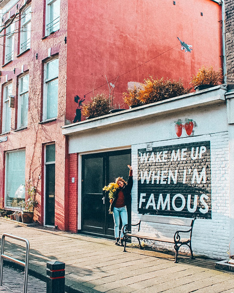 Wake me up when I'm famous wall art