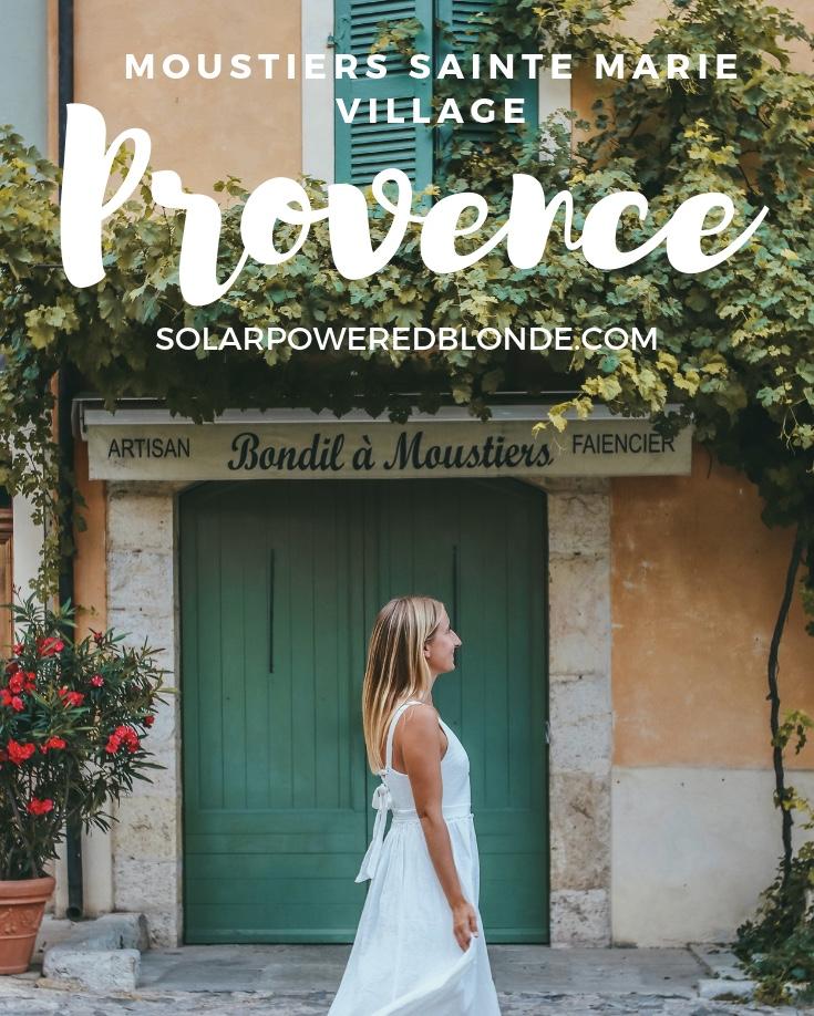Pinterest Graphic - Moustiers Sainte Marie Village