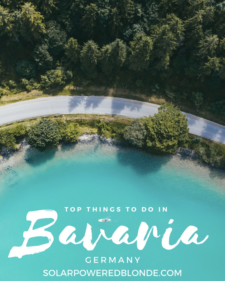 Pinterest graphic on top things to do in Bavaria in summer