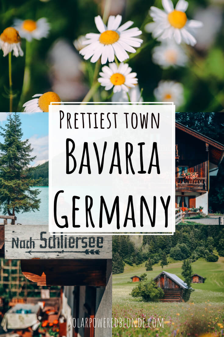 Photos from Schliersee town in Bavaria with text overlay