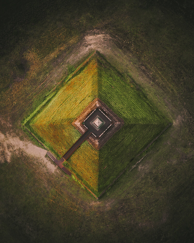 The Austerlitz Pyramid from above