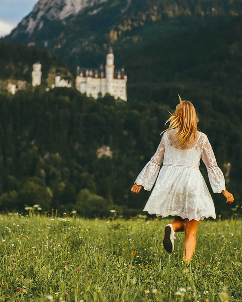 Me running towards Neuschwanstein Castle