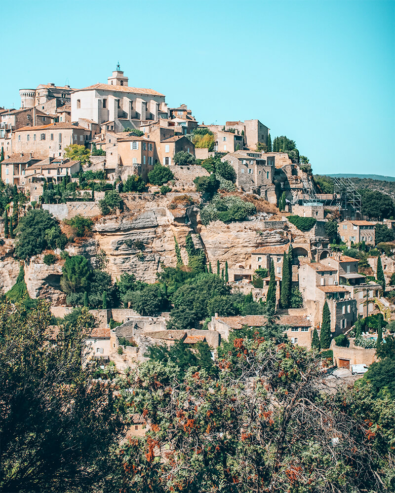 Gordes town from far away - Prettiest villages in Provence