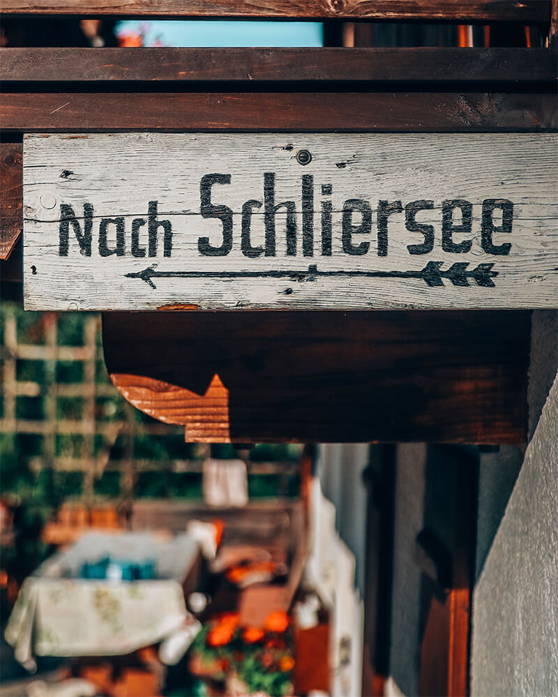 Sign saying Nach Schliersee
