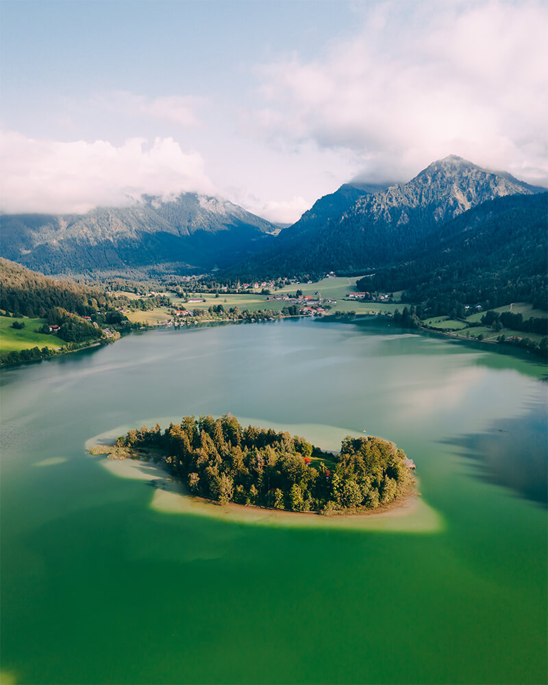 Schliersee Lake in Bavaria, most beautiful towns in Bavaria