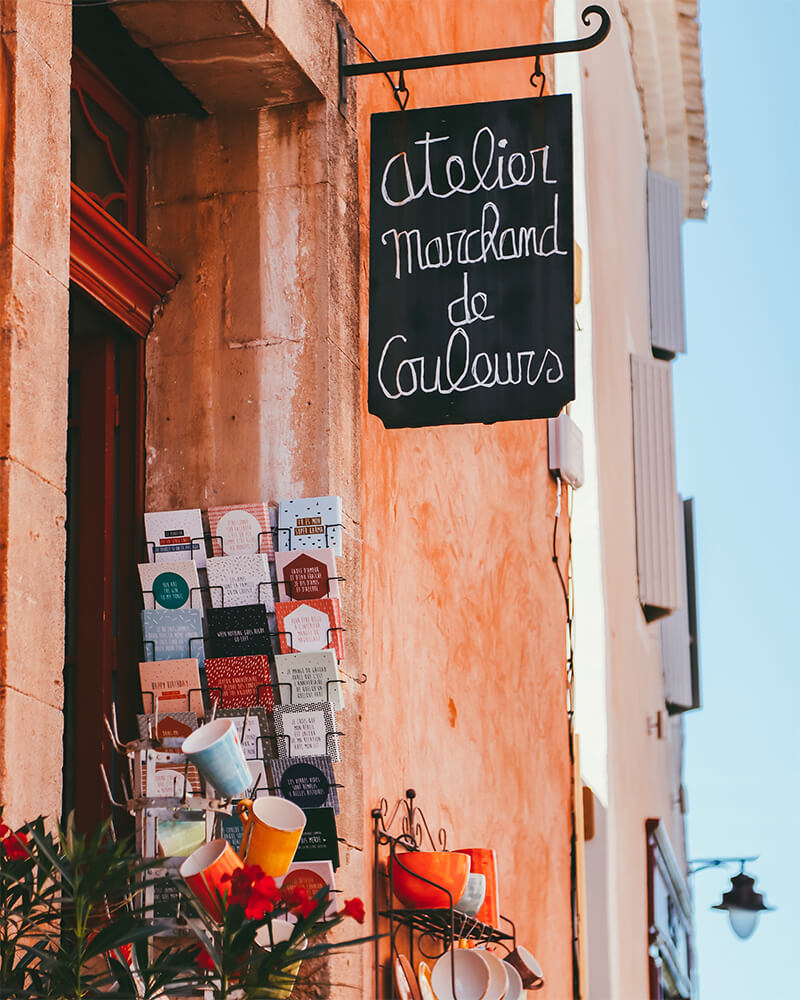 Prettiest villages in Provence - a shop front in Roussillon