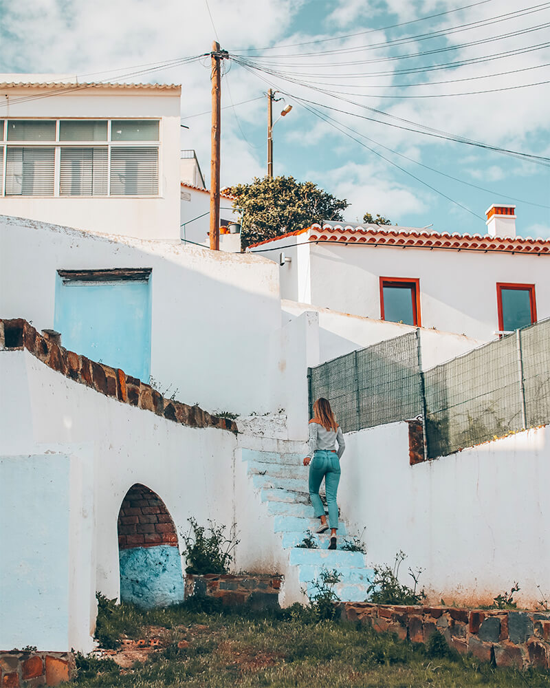 Me wandering through a town in the Algarve