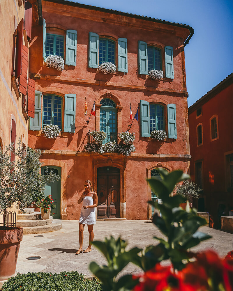 Things to do in Roussillon? Visit this lovely town hall - an instagrammable spot