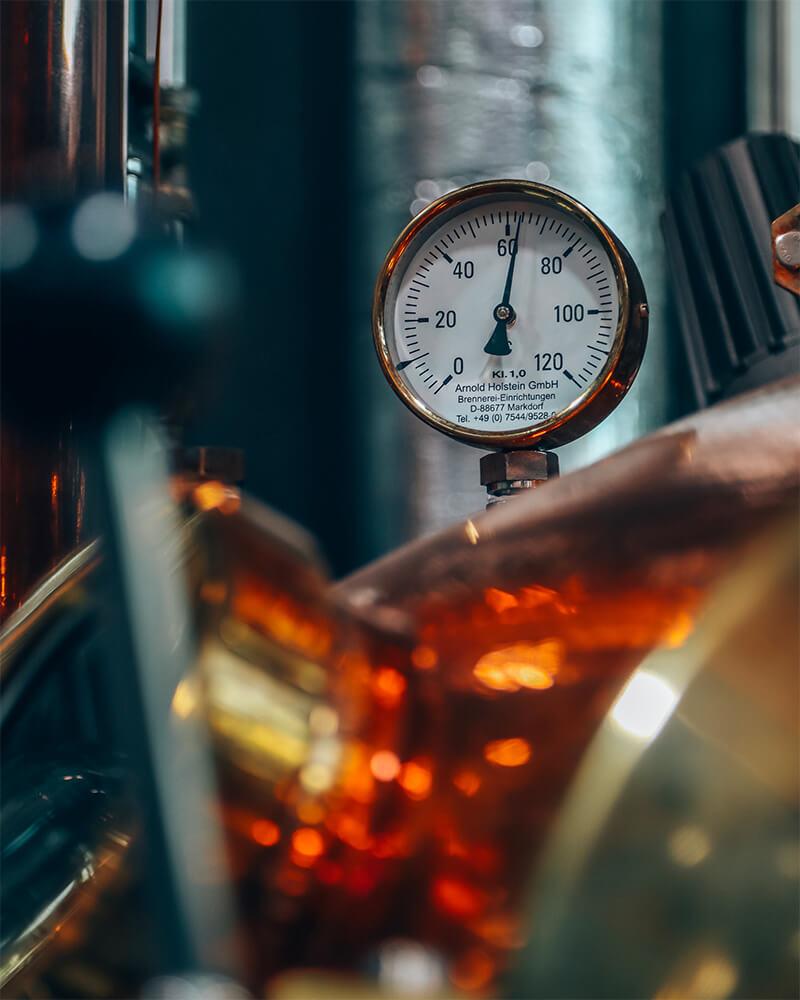 Inside the latenhammer distillery in Schliersee, Bavaria
